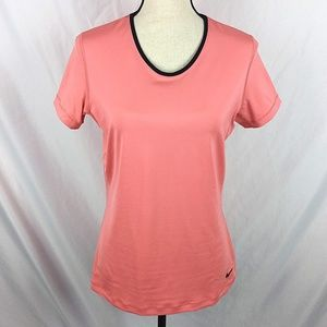 Nike Pro Dri-Fit T-Shirt Coral Ventilated Back